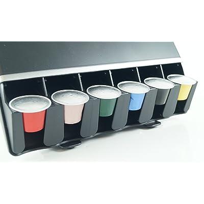 Mind Reader Support-distributeur en plastique pour capsules de café Noir 28 x 27 x 13cm