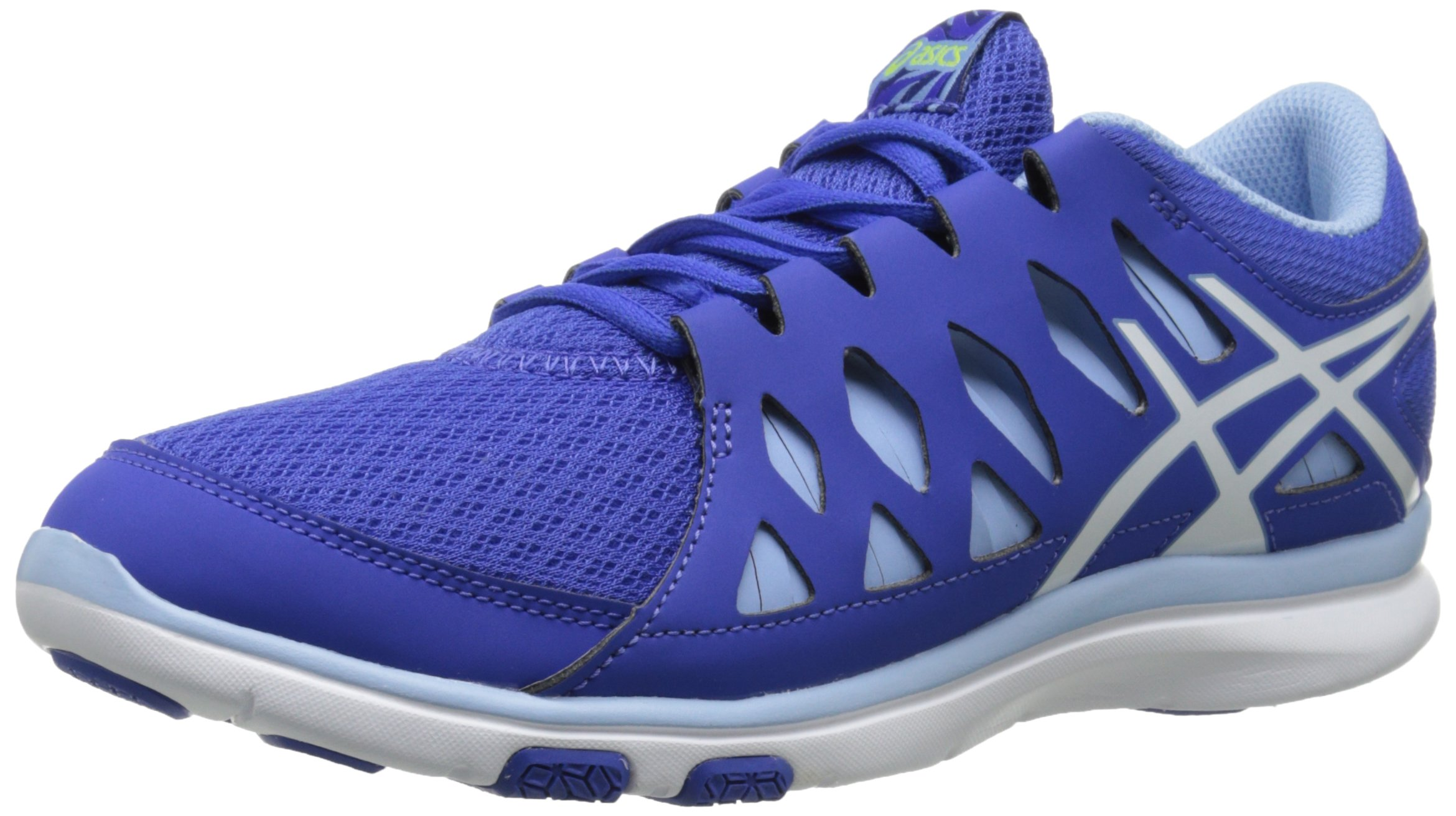 ASICS Women's Gel Fit Tempo 2 Fitness Shoe, Blue Purple/White/Blue Bell, 5 M US