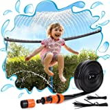 PARIGO Trampoline Sprinkler Toys for Kids, Trampoline Water Park Sprinkler Fun Summer Outdoor Water Games Yard Toys, Trampoli
