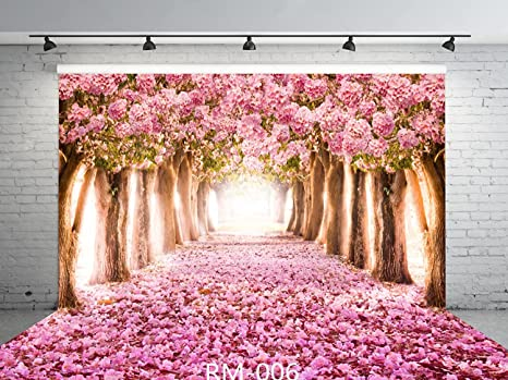 Amazon 9x6ft cherry blossoms street seamless poly fabric photo 9x6ft cherry blossoms street seamless poly fabric photo backdrops customized studio background amazing sakura flower road mightylinksfo