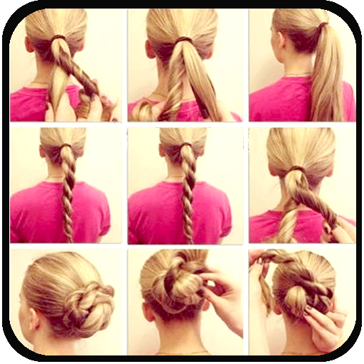 how to style hair step by step hair styles step by step br appstore 5868