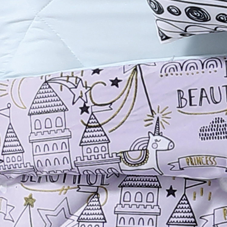 My World LHK-COMFORTERSET Unicorn Princess Printed Twin XL Comforter Set Twin//Twin Pem America CS2119TXL-1500