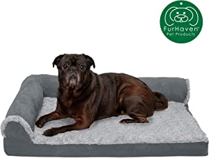 Furhaven Pet Dog Bed | Orthopedic Chaise Lounge & Goliath Sofa-Style Living Room Couch Pet Bed w/ Removable Cover for Dogs & Cats - Available in Multiple Colors & Styles
