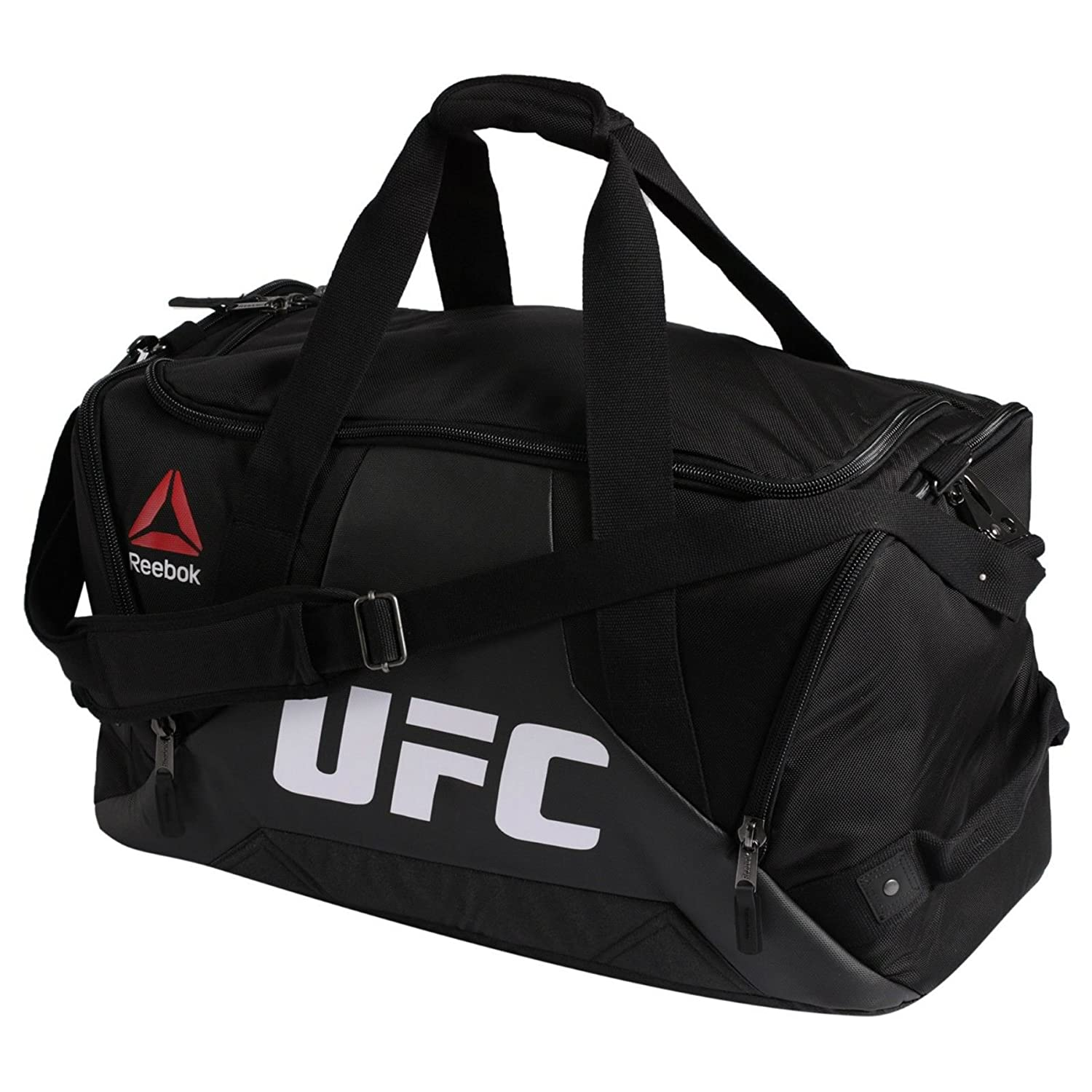 Reebok Combat Grip UFC Fitness Training Duffle Sport Bag in Black White Red Yellow