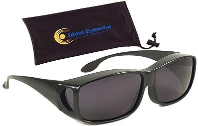 Amazon.com: Sun Shield Fit Over Sunglasses with Polarized Lenses ...