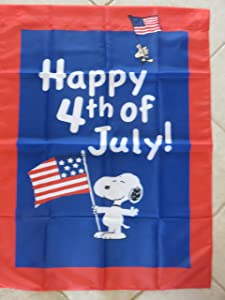 Peanuts Snoopy 4th of July n Yard House Flag Large