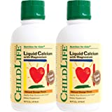 Child Life Liquid Calcium/Magnesium, Natural Orange Flavor, 16 oz 2-pack