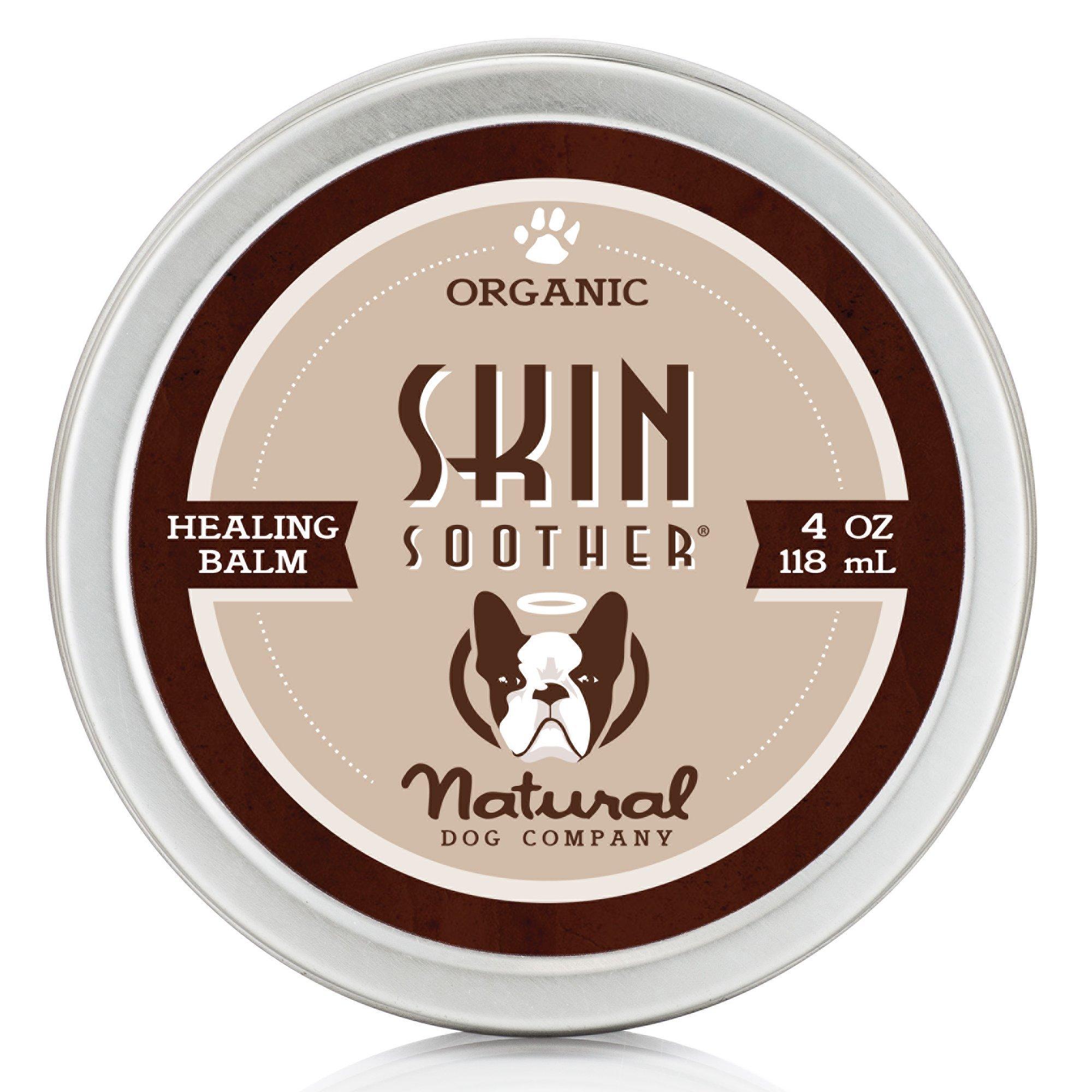 Natural Dog Company - Skin Soother | Organic, All-Natural Healing Balm - Treats Hot Spots, Bacterial Folliculitis, Dermatitis, Alopecia, Mange, Dry Flaky Skin | 4 Oz Tin by Natural Dog Company