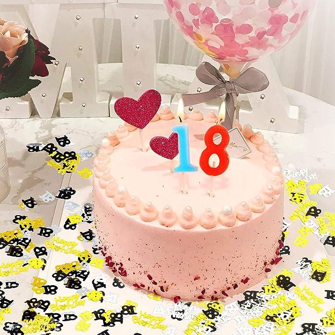 Howaf 18 Geburtstag Deko Madchen Jungen 18 Geburtstags Pvc Swirl