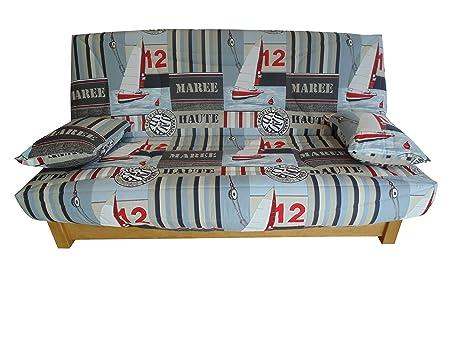 Divano Letto Patchwork : Custodia imbottita per divano letto clic clac 130 x 190 vela tortora