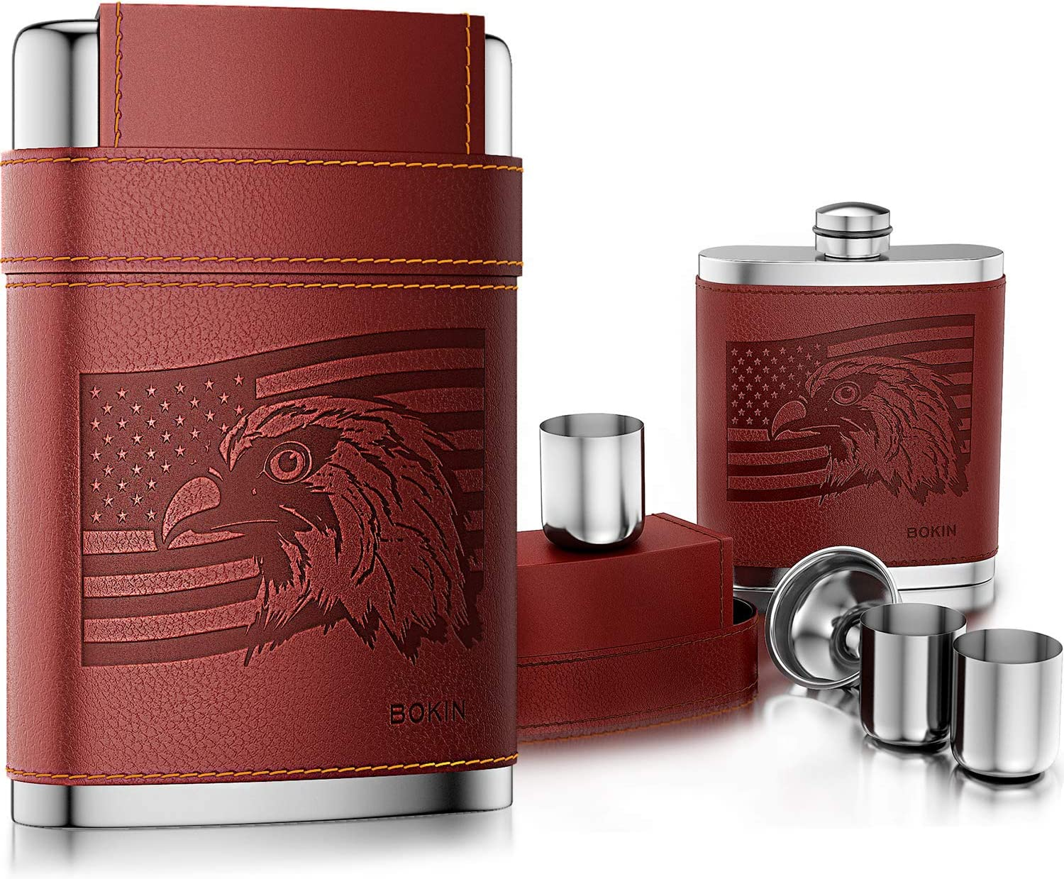 2 Shot Cups Ideal Gift Idea 6Oz Stainless Steel Hip Flask Set With Funnel