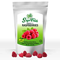 Segufresh Freeze Dried Raspberries (2 Pack) 100% Natural Food Product   Nutritious And Delicious Crunchy Gluten-Free & Vegan Unsweetened Fruit, No Additives, Healthiest Snacks Pack Ever In Resealable