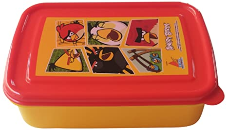 Angry Birds Lunch Box, Yellow/Red <span at amazon