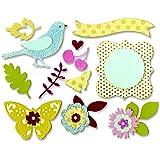 """Sizzix """"Floral Wreath"""" Thinlits Stanzen Set von Brenda Walton, 23 Packung"""