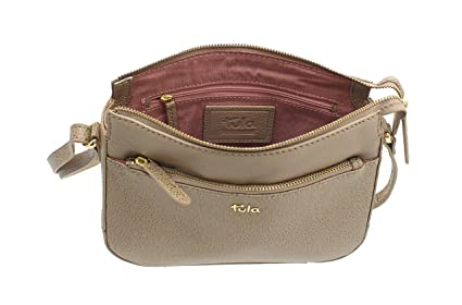 Tula RYE Collection Leather Zip Top Shoulder Cross Body Bag 8432 ... acebdb579a70e