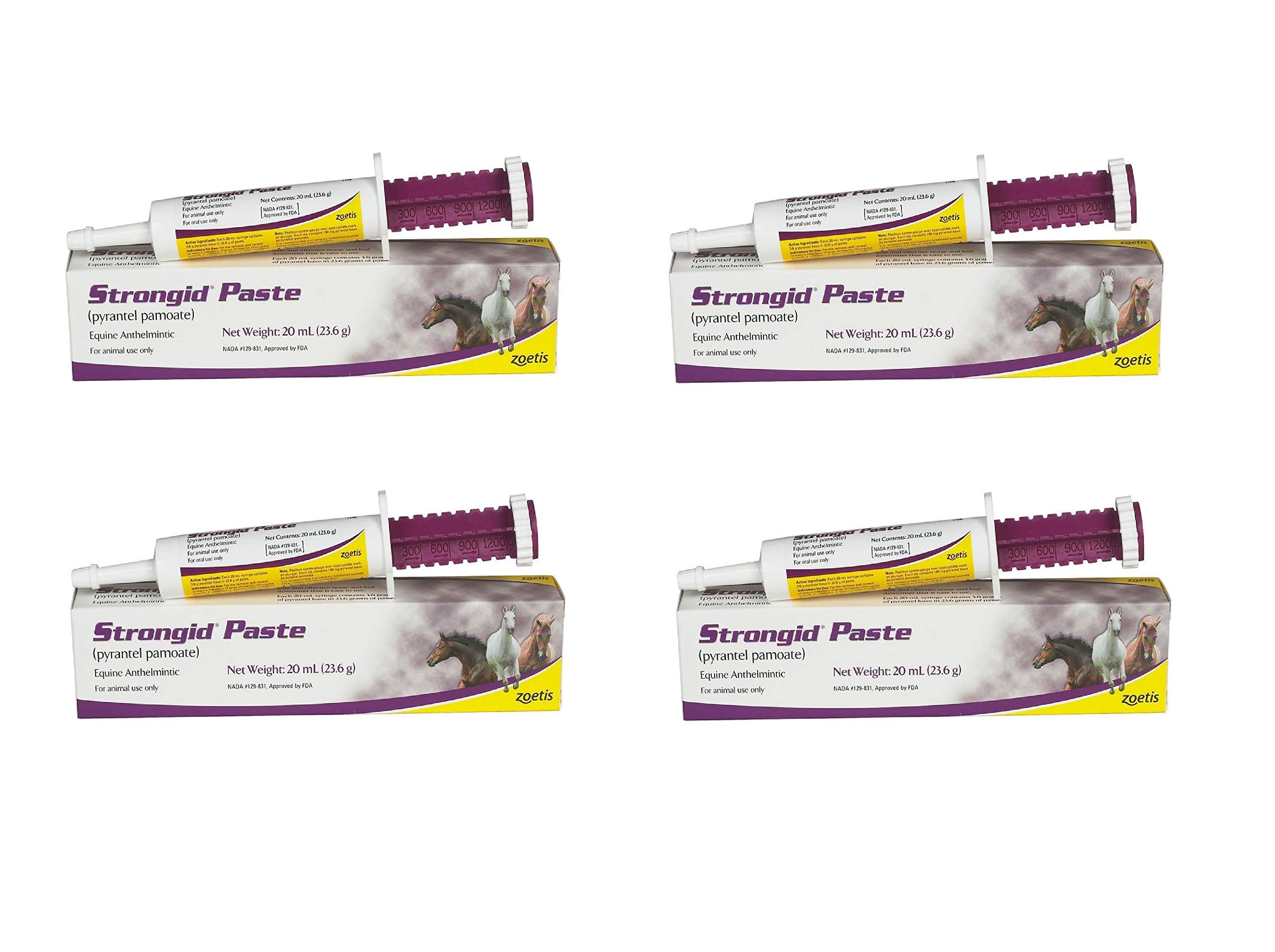 Pfizer Strongid Dewormer Paste for Horses, 23.6gm (4 Pack)