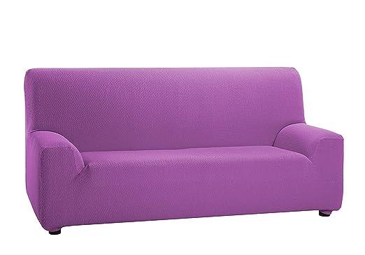 TEXTURAS VIP- Funda de sofá Elástica LOW COST (Varios tamaños disponibles)  (2_Plazas_140_170_cms, Malva)