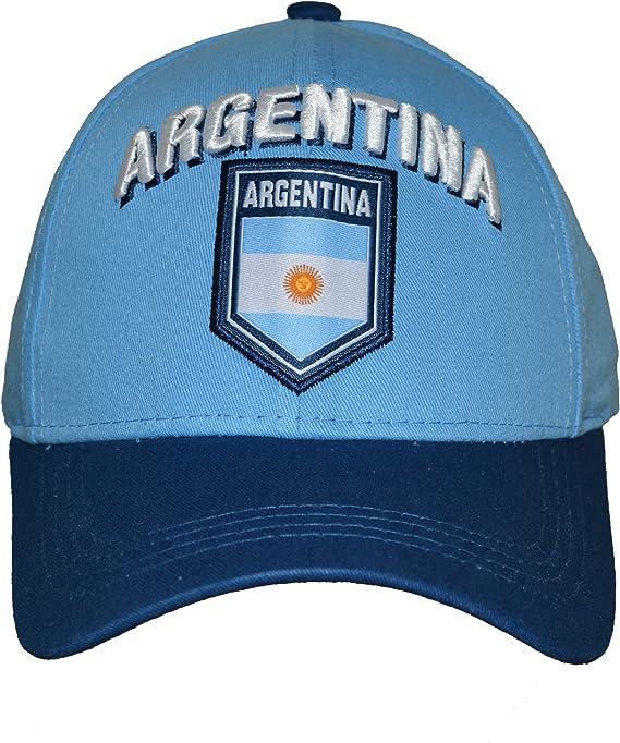 Rhinox Argentina Sombrero Gorra Ajustable Grupo Nacional Equipo Fútbol Argentina Bandera Logo: Amazon.es: Deportes y aire libre