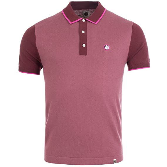 Pretty Green - Polo - para Hombre Rosa Granate Small: Amazon.es ...