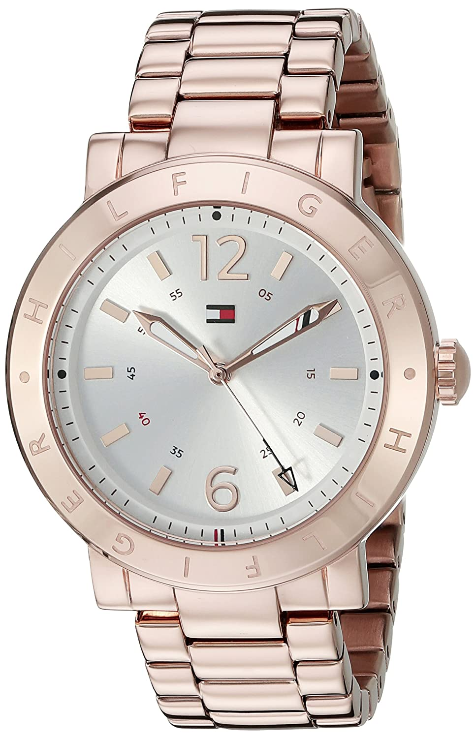 Amazon.com: Tommy Hilfiger Womens 1781621 Casual Sport Analog Display Quartz Rose Gold-Tone Stainless Steel Watch: Tommy Hilfiger: Watches