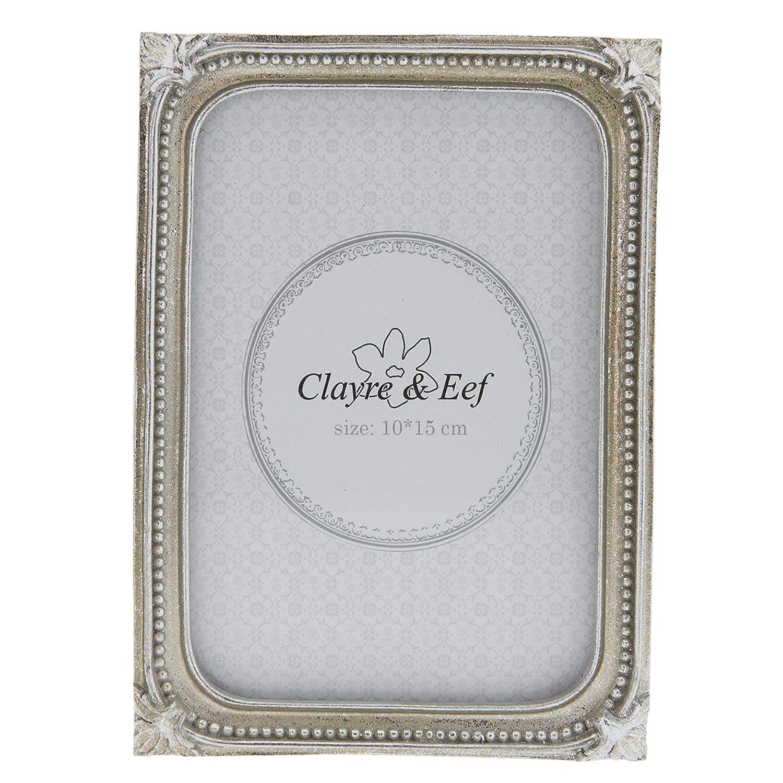 Clayre /& Eef 2F0489L Bilderrahmen//Fotorahmen 14 18 cm Silber 2 19 cm 13