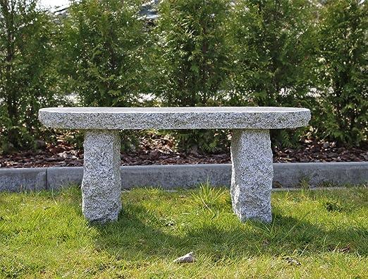 Banco De Jardín De Granito De GB4 Banco de granito exterior Banco de piedra Pulido Asiento esquinas redondeadas gris aspecto rústico Tríptico): Amazon.es: Jardín