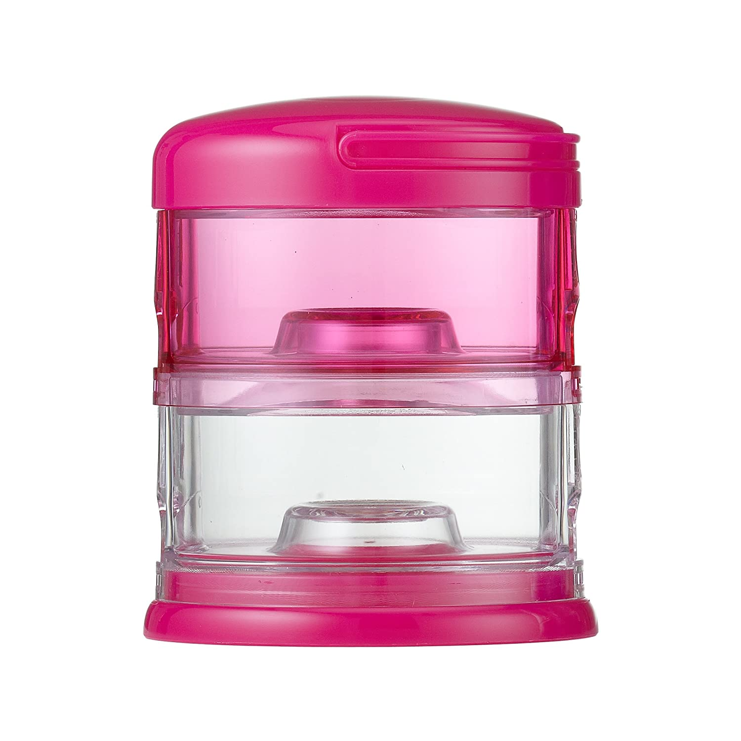 Innobaby Packin' Smart Stackable and Portable Storage System for Formula, Baby Snacks and More. 2 Stackable Cups in Pink. BPA Free, 5 Ounce