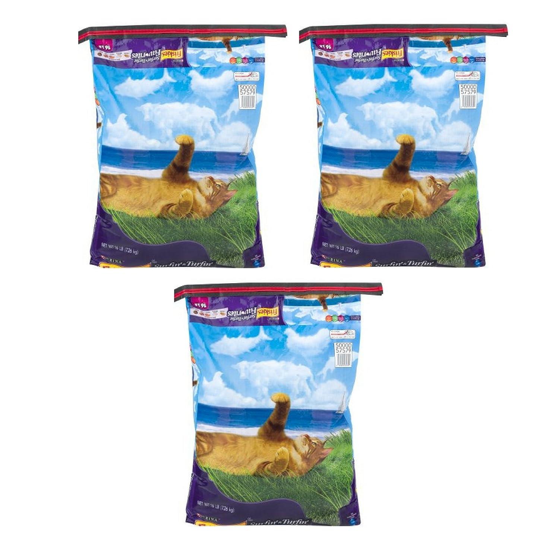Purina Friskies Surfin' & Turfin' Favorites Adult Dry Cat Food, 16 Lb 3 Bag