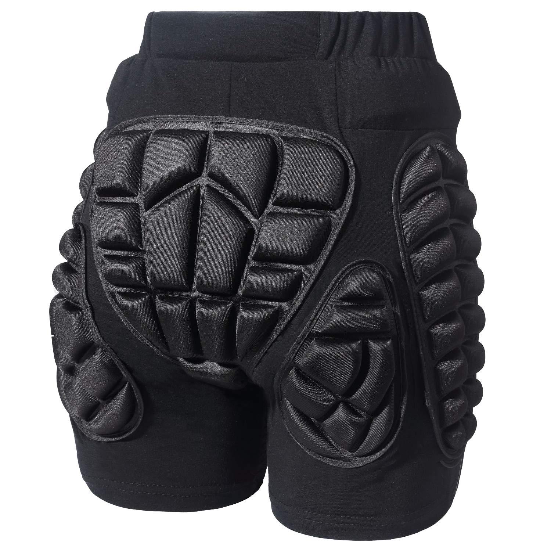 Gute Protection Hip Butt, 3D Padded Shorts Pants, Protective Gear Guard Impact Pad for Ski Ice Skating Snowboard Cycling
