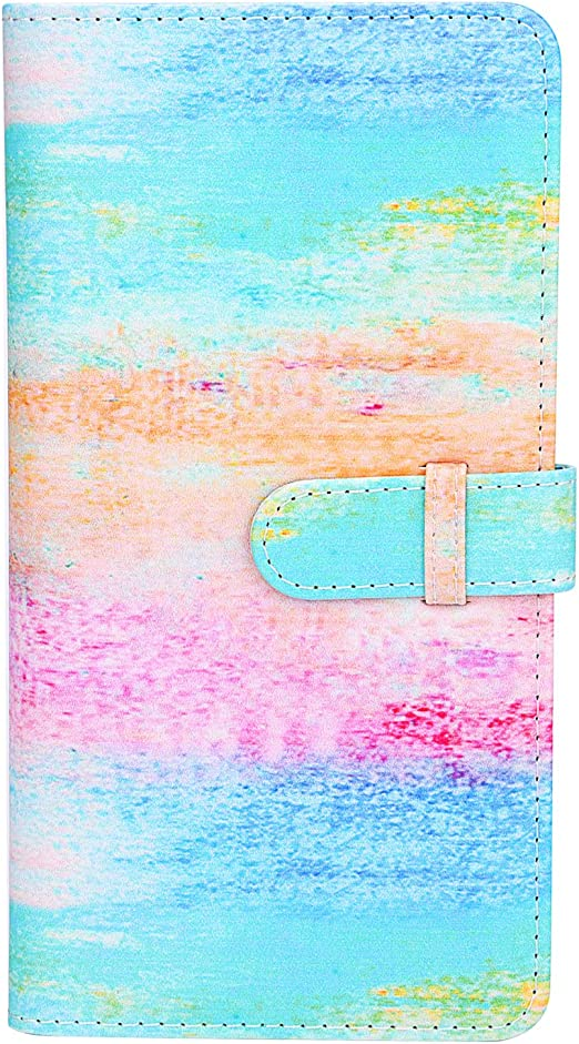 Sunmns Wallet PU Leather Photo Album for Fujifilm Instax Square SQ6 SQ10 SQ20 Film Rainbow