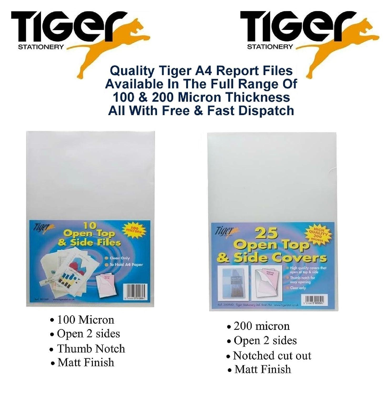 Tiger - Archivadores (A4, Tapa Abierta y Tapas Laterales, 25 Unidades): Amazon.es: Hogar