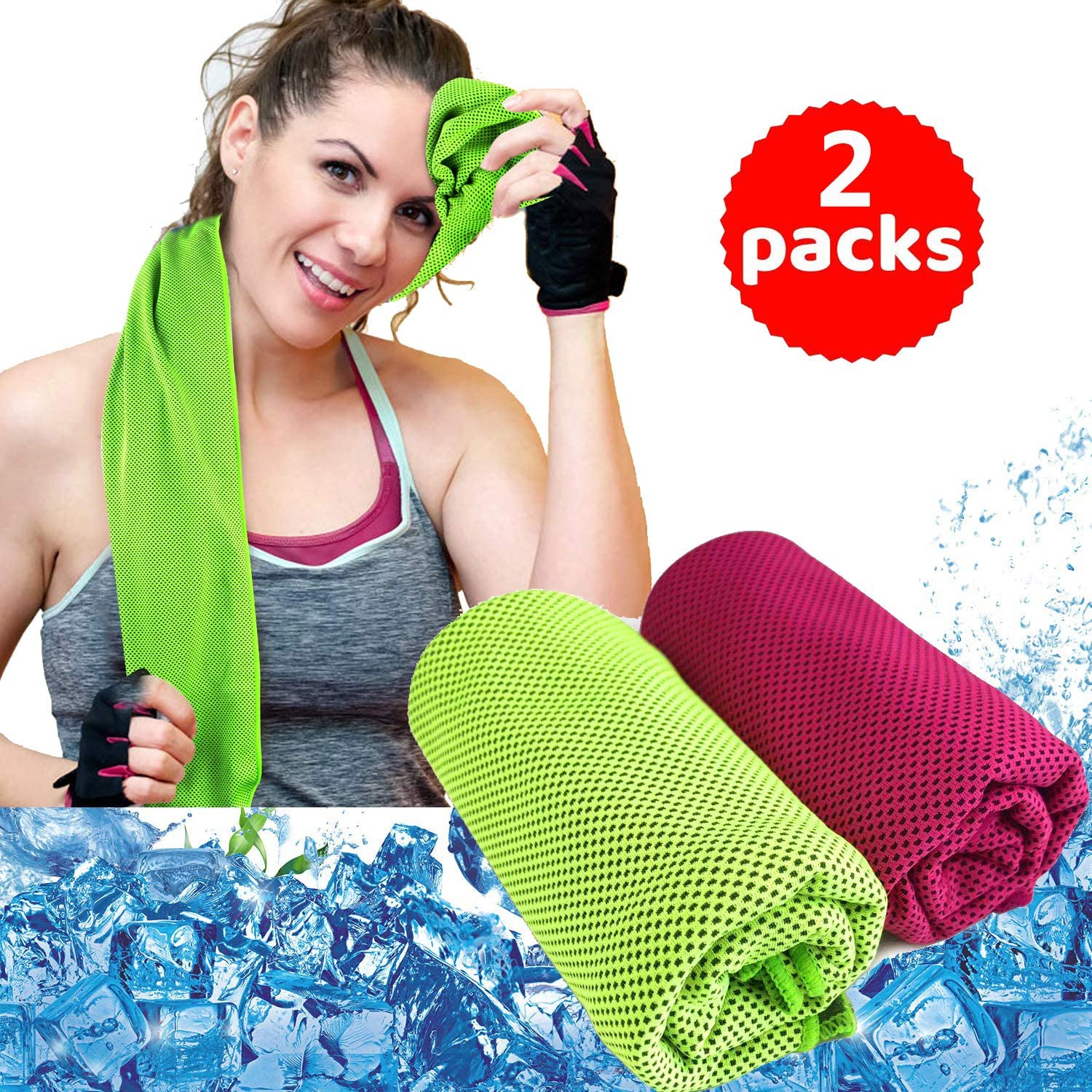 Sport Towel,Cooling Towel, Ice Towel for Neck Instant Cooling, Chilly Towel for Men Women Kids, Super Absorbent Microfiber Towel for Athletes, Workout, Sports, Camping