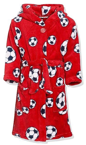 Playshoes Football Fleece Bata, Rot 8, 9 años (134 cm) para Niños
