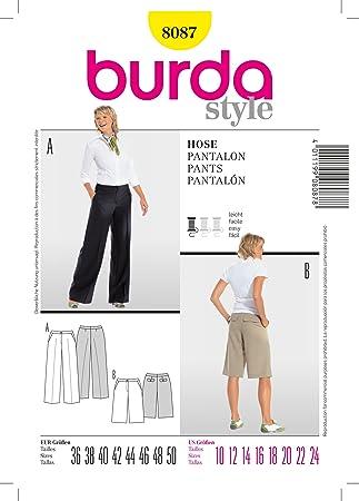 Burda Schnittmuster 8087 Hose Gr. 36-50: Amazon.de: Küche & Haushalt