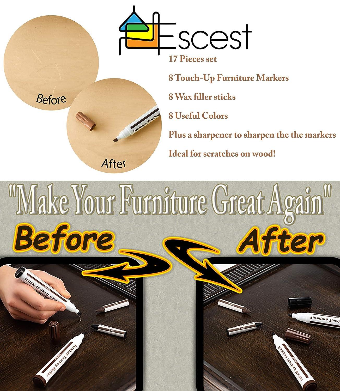 Amazon.com: Juego de 17 piezas de reparación para muebles de ...