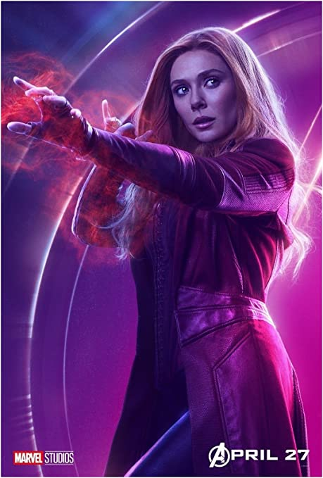 Scarlet witch Avengers infinity war Silk Poster 24 X 14 inch