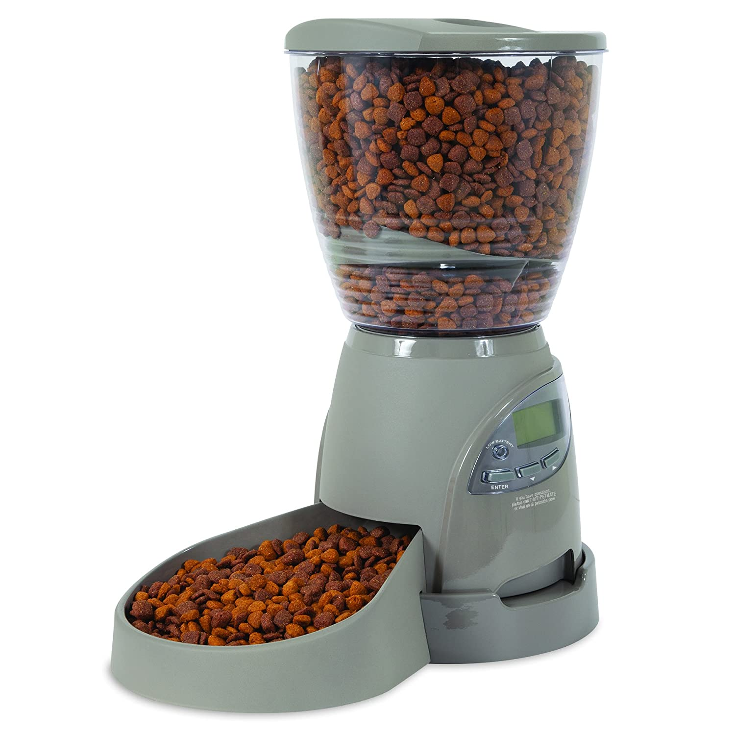 Pet Supplies Petmate Portion Right Automatic Feeder brushed