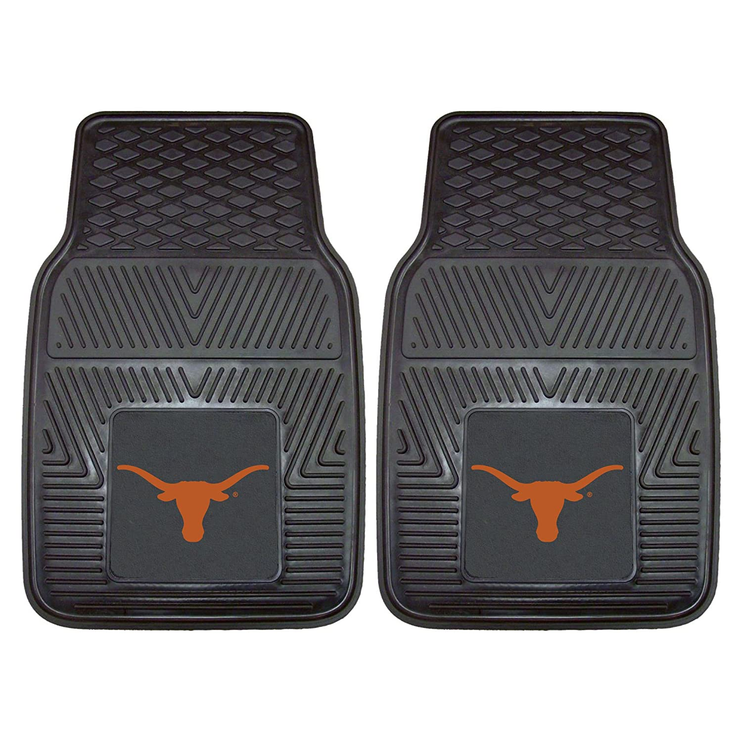 Texas Longhorns Car Mats Heavy Duty 2 Piece Vinyl Car Mats FanMats
