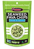 Seapoint Farms Snacks, Seaweed Fava Chips, 3.5
