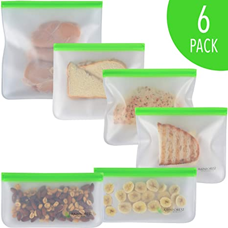Amazon.com: Bolsas de almuerzo reutilizables (paquete de 6 ...