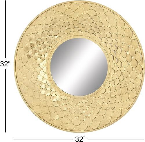 Deco 79 48669 Metal Wall Mirror, 32