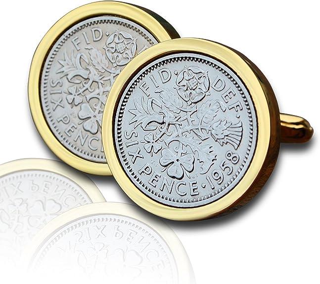1958 peniques gemelos para monedas oro de publicidad de la marca ...