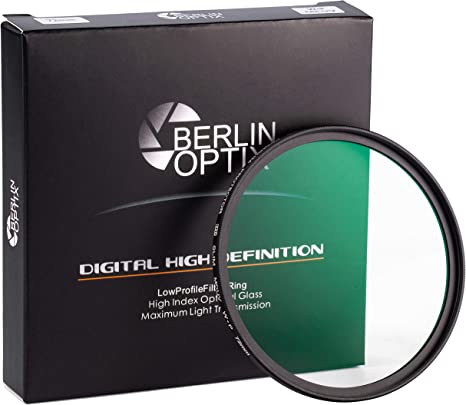 Berlin Optix Premium UV Filter 55mm ∙ Schott Glass ∙ 16 Layers Multi Coated ∙ Super Slim Aluminium Ultraviolet Lens ∙ Protective Filter