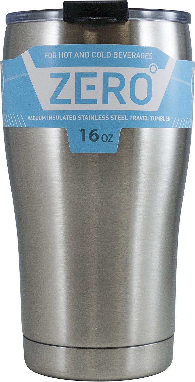 Stainless Steel Tumbler with Lid, Double Wall Vacuum Insulated Travel Mug for Hot and Cold Drink by Zero Degree (16oz)