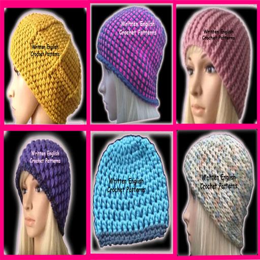 6 PDF Crochet Patterns Hats ()