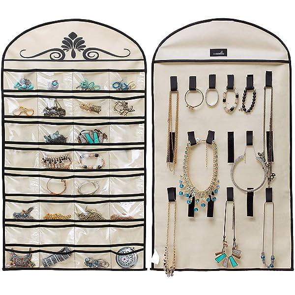 Jewelry Hanging Organizer 56 Pockets 9 Hook Store Rings,Earrings.Bracelet,Makeup