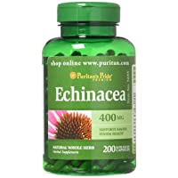 Echinacea 400 mg for Immune Health by Puritan's Pride to Support Immune System 200...