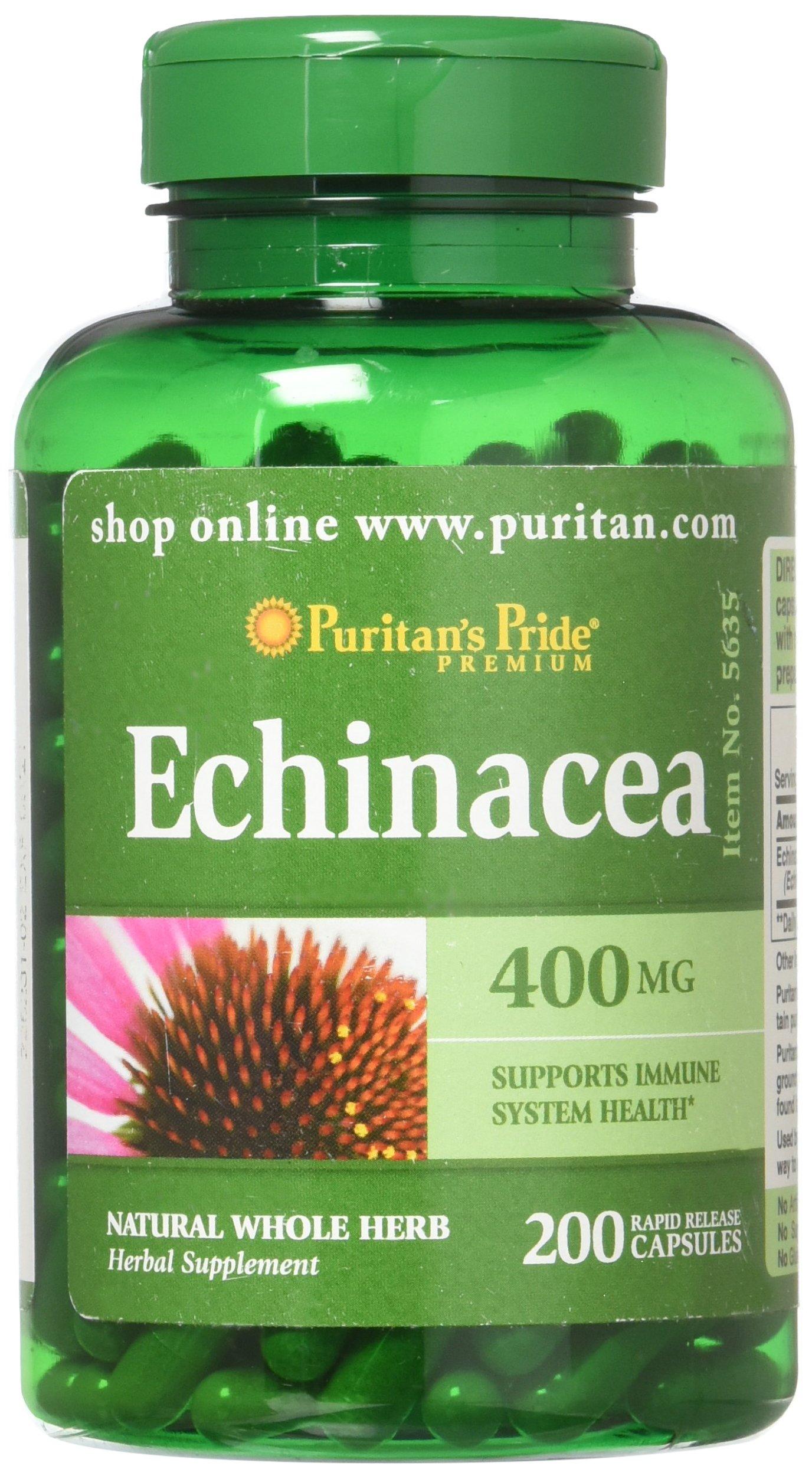 Puritans Pride Echinacea 400 mg-200 Capsules
