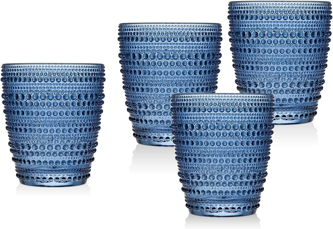 Godinger Old Fashioned Glasses Beverage Cups - Lumina, Set of 4