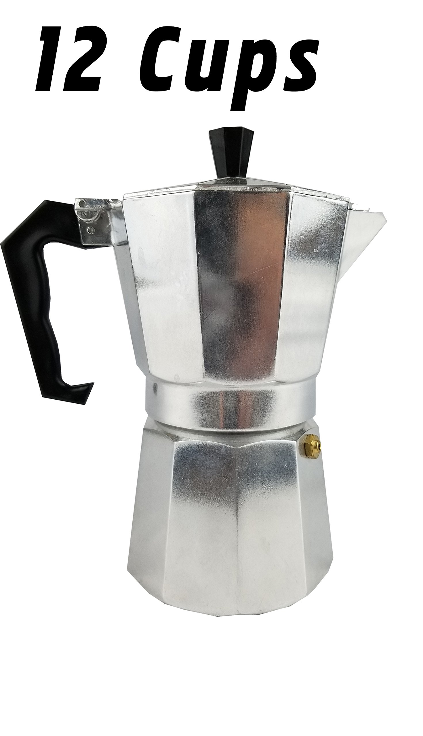 Uniware Aluminum Expresso Coffee Pot (12 Cups)